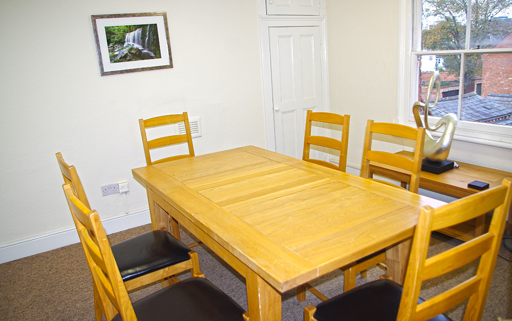 A meeting room in Rothersthorpe House