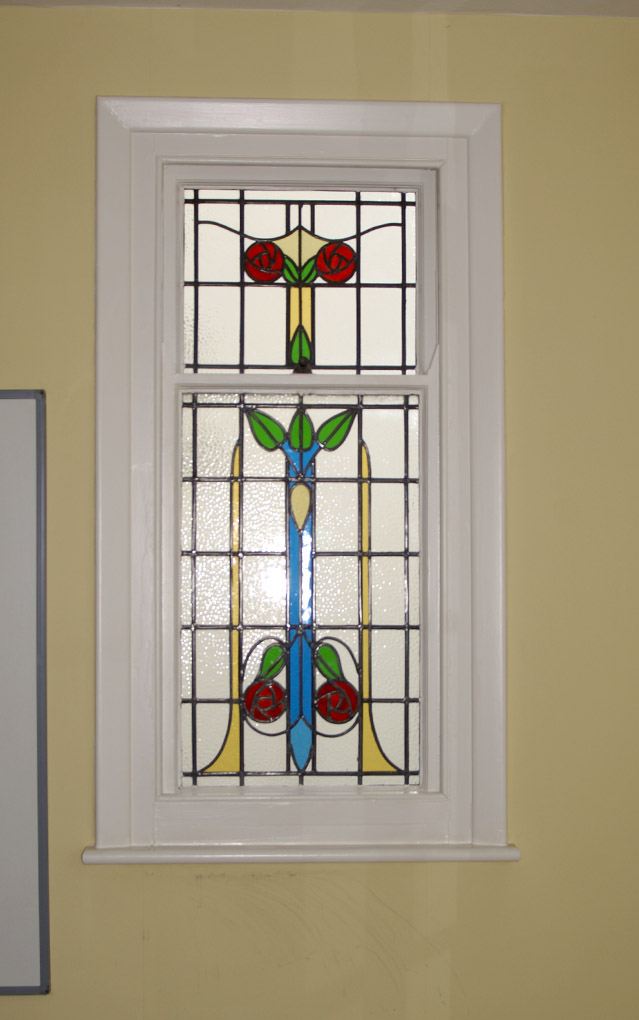 Victorian stained glass detailed at Rothersthorpe House